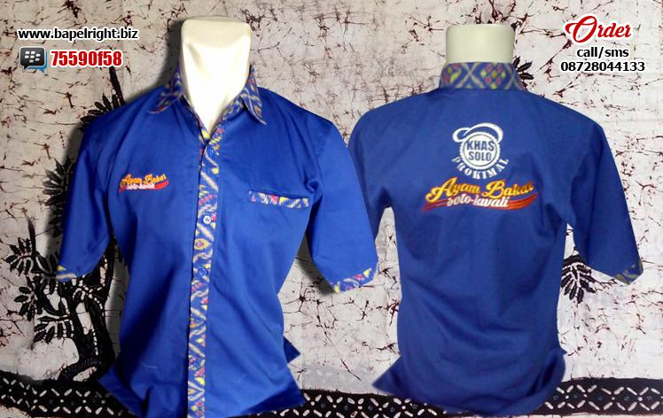 seragam rumah makan batik