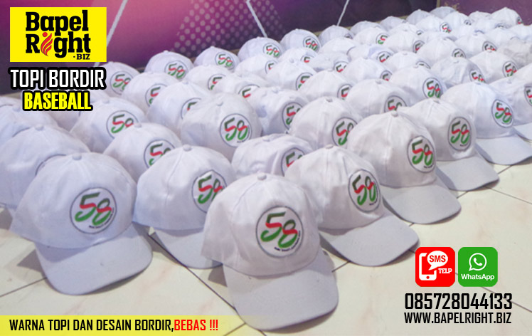 topi bordir baseball,grosir topi baseball,topi baseball putih,topi bordir putih