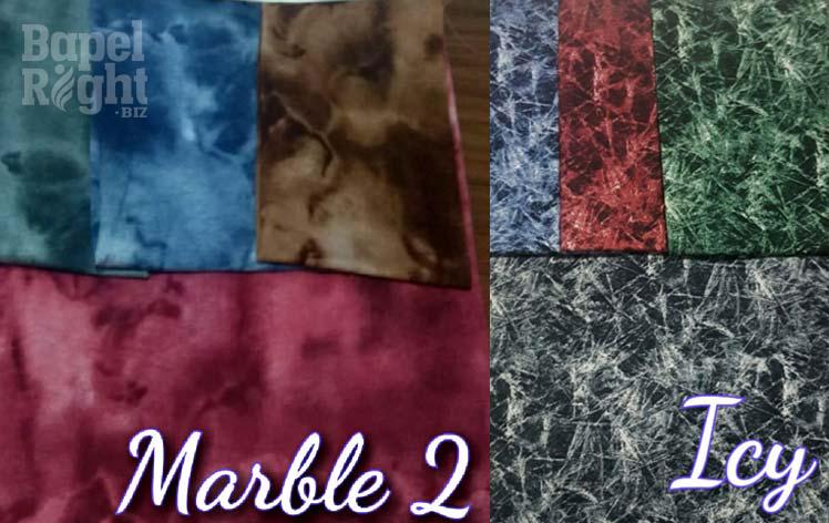 motif cotton marble 2 dan icy
