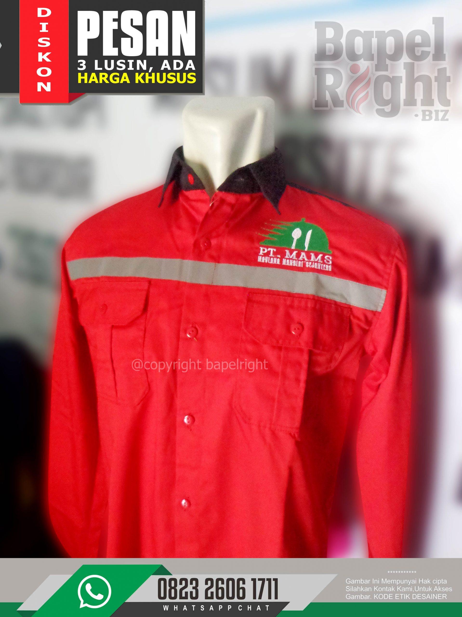 Seragam Safety Merah | Desain Seragam Safety