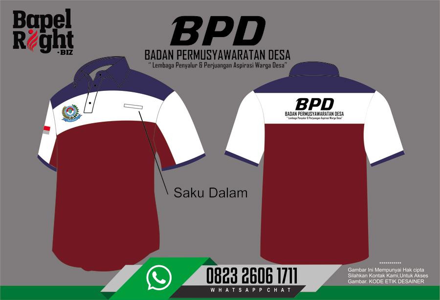 seragam Anggota BPD | Kaos BPD | Logo BPD | Desain Kaos BPD | Contoh Seragam BPD Desa