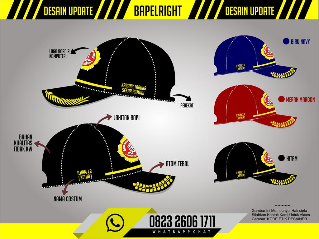 desain topi karang taruna
