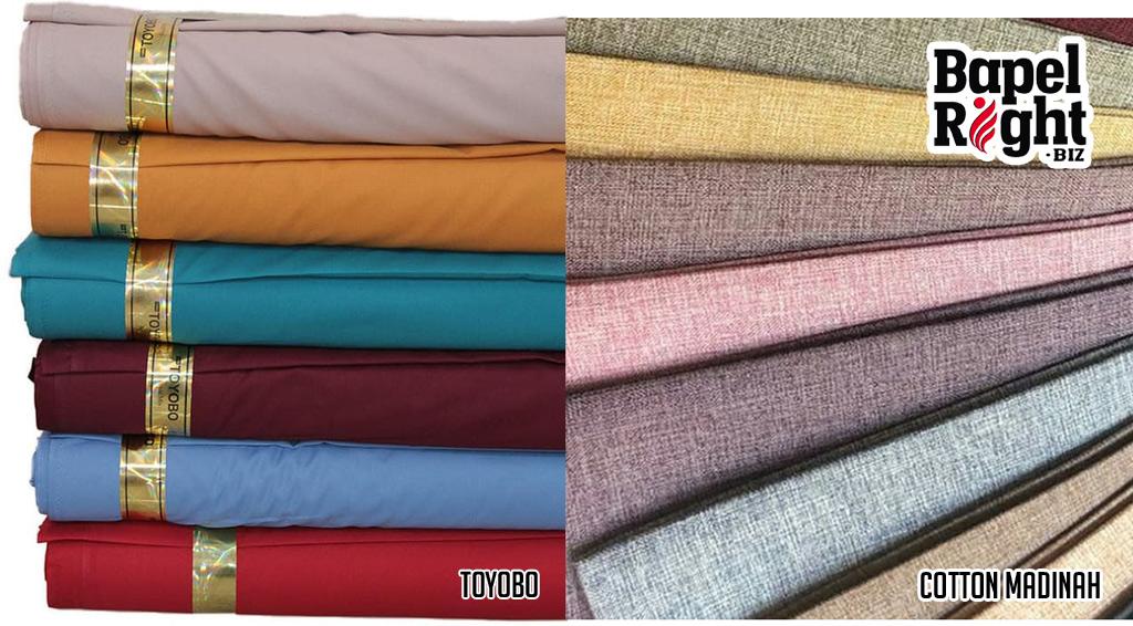 bahan kemeja toyobo dan cotton madinah