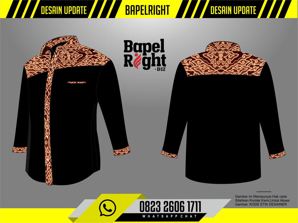 desain seragam baju organisasi komunitas lengan panjang batik