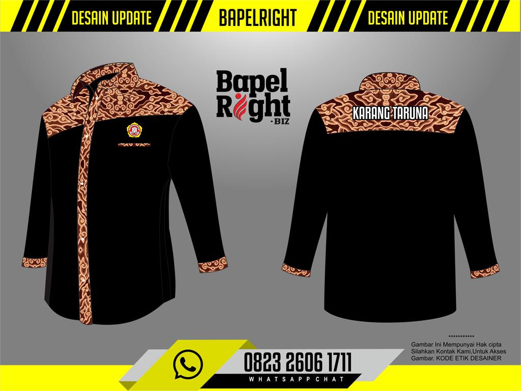 Desain Baju Karang Taruna Keren Kombinasi Batik